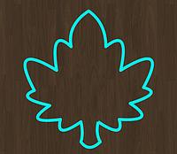 Вырубка кондитерская для пряника мастики марципана Листик