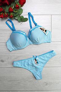 Комплект женский голубой 075В-3