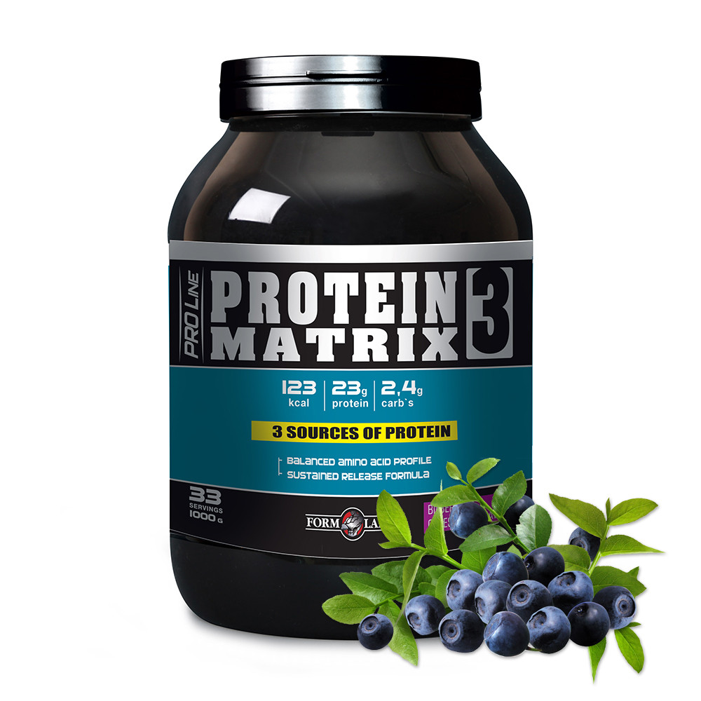 Протеїн PROTEIN MATRIX 3 1000g Смак: Чорниця з сиром