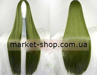 Парик зеленый без челки 100см ( волосы искусственные) Купить парик недорого Украина!