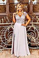 Очень красивое вечернее женское платье в пол больших размеров 48-54