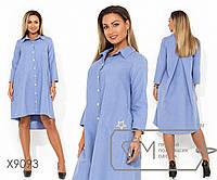 Платье-мини со шлейфом, рукавами 7/8 контрастной застежкой по всей длине и накладными карманами, 1 цвет