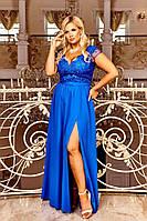 Красивое женское вечернее платье в пол больших размеров 48-54
