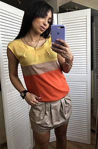 Платье женское желтое 910