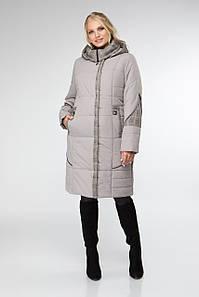 Комбинированная женская куртка деми, размеры 52-62