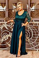 Нарядное длинное женское вечернее платье больших размеров 48-54