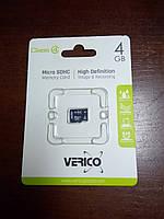 Карта памяти, MicroSD, 4 ГБ, Class 4, фото 1