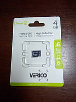 Карта памяти, MicroSD, 4 ГБ, Class 4