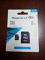 Карта памяти, MicroSD, 8 ГБ, Class 4