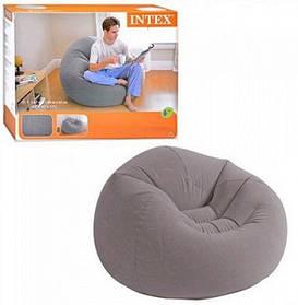 Надувное велюровое кресло-мешок Intex 68579NP