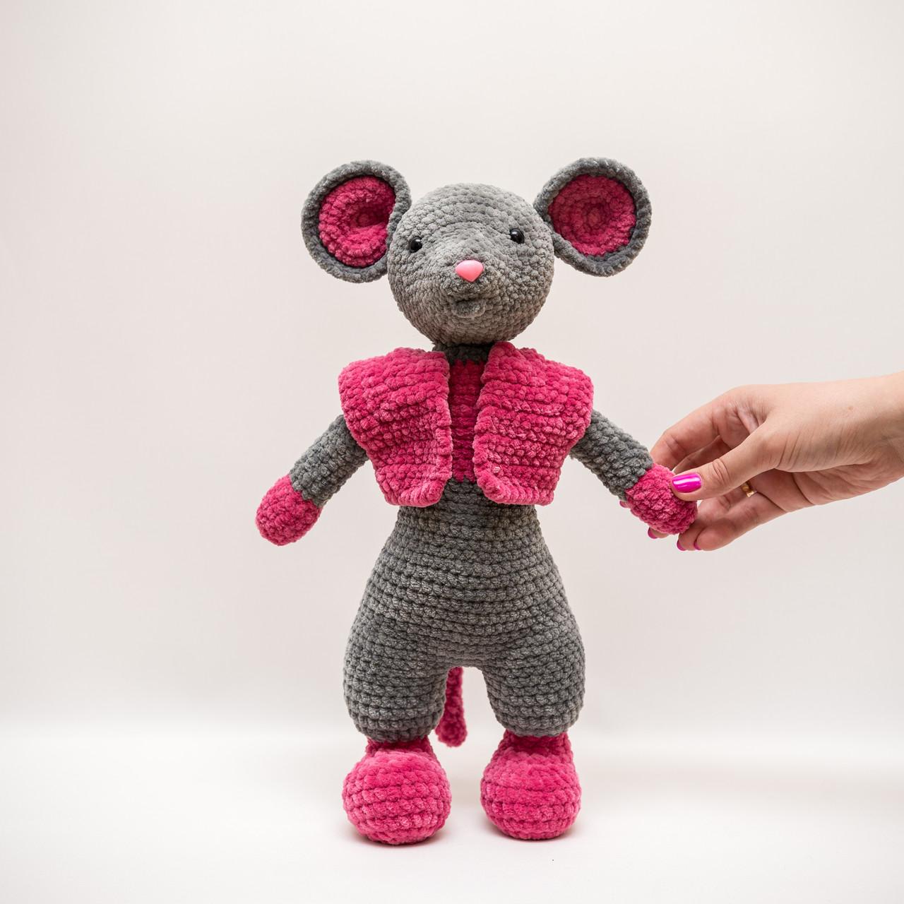 Мышка в жилетке Vikamade вязанные игрушки от Танюшки