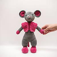 Мышка в жилетке Vikamade вязанные игрушки от Танюшки, фото 1