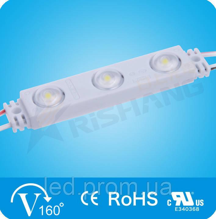 Светодиодный модуль 3-2835-12V-IP65 106Lm 1.2W 6000K (M903TB)