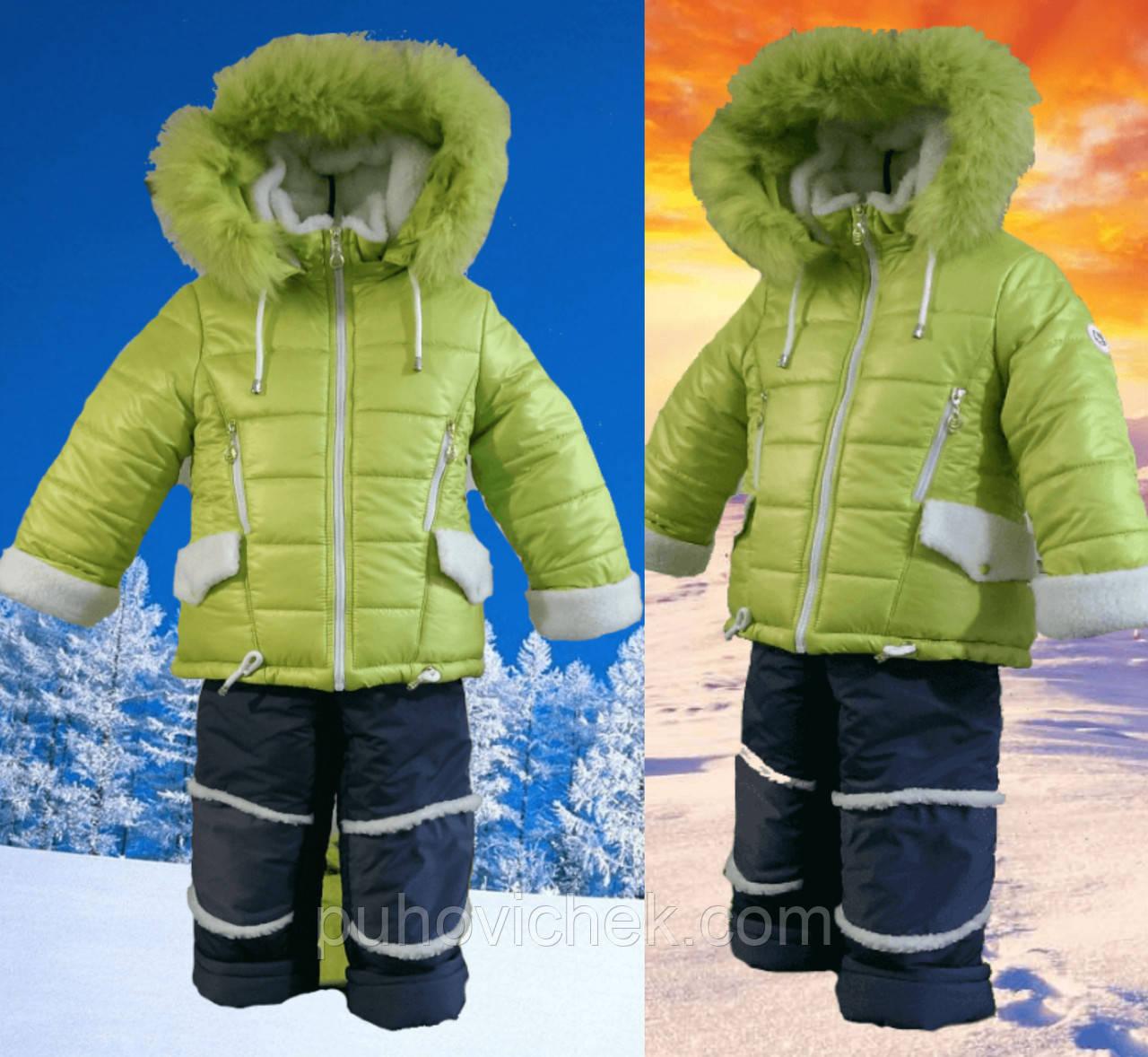Зимний комбинезон для девочки с мехом интернет магазин