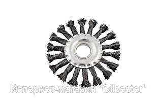 Щетка дисковая Mastertool - 150 мм, плетеная