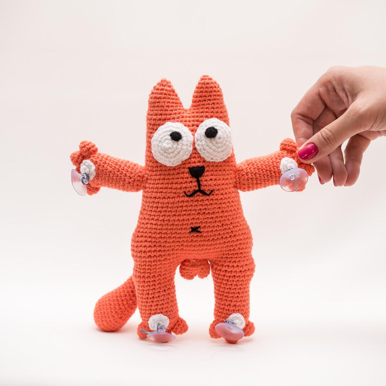 Кот Саймона на присосках  Vikamade вязанные игрушки от Танюшки