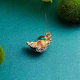 Милая металлическая брошь брошка значок с золотой улиткой 16136, фото 3