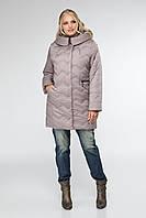 Осенняя женская куртка с капюшоном, размеры 50 52 56 60