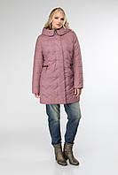 Осенняя женская куртка с капюшоном, размеры 50-60