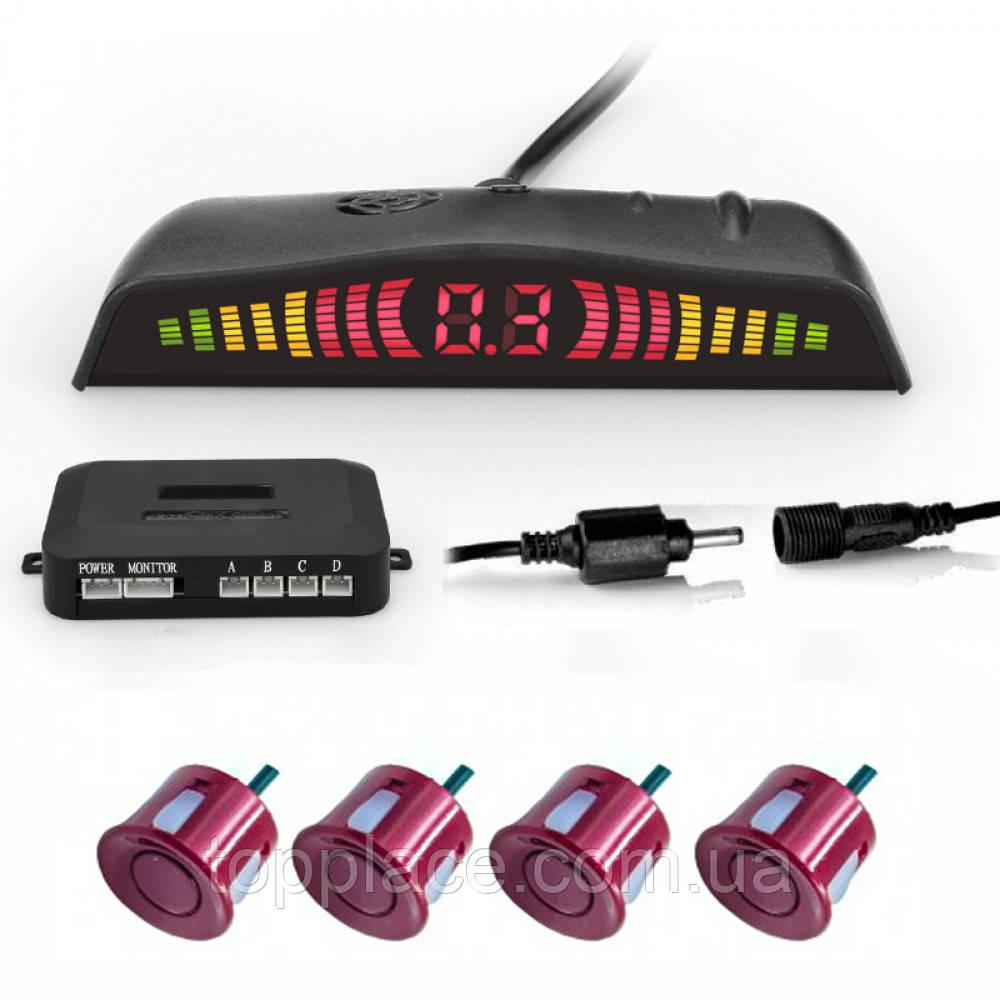 Парковочная система RangePolar SW858K4 c LED дисплеем, 4 датчика, Dark-Red (AS101005359)