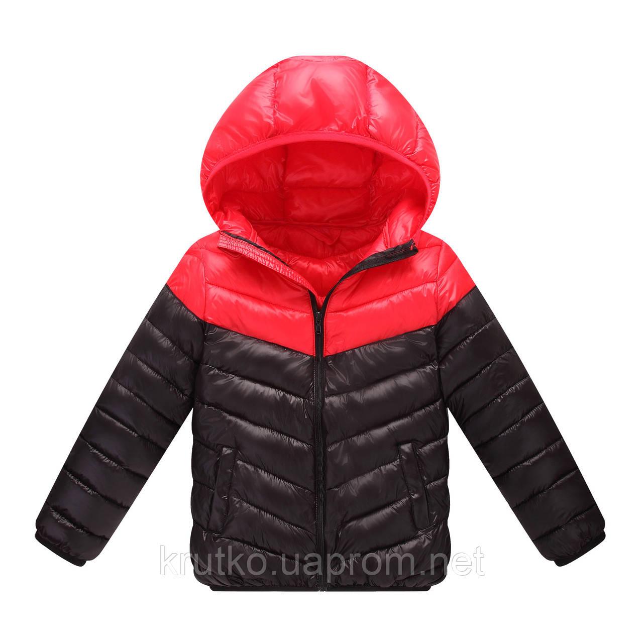 Куртка весенняя детская, красный-черный Berni