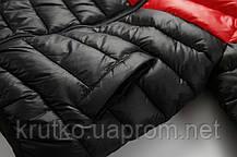 Куртка весенняя детская, красный-черный Berni, фото 3
