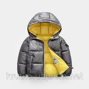 Куртка демисезонная детская Глянец, серый Berni, фото 2