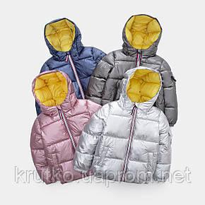 Куртка демисезонная для девочки Глянец, розовый Berni, фото 2
