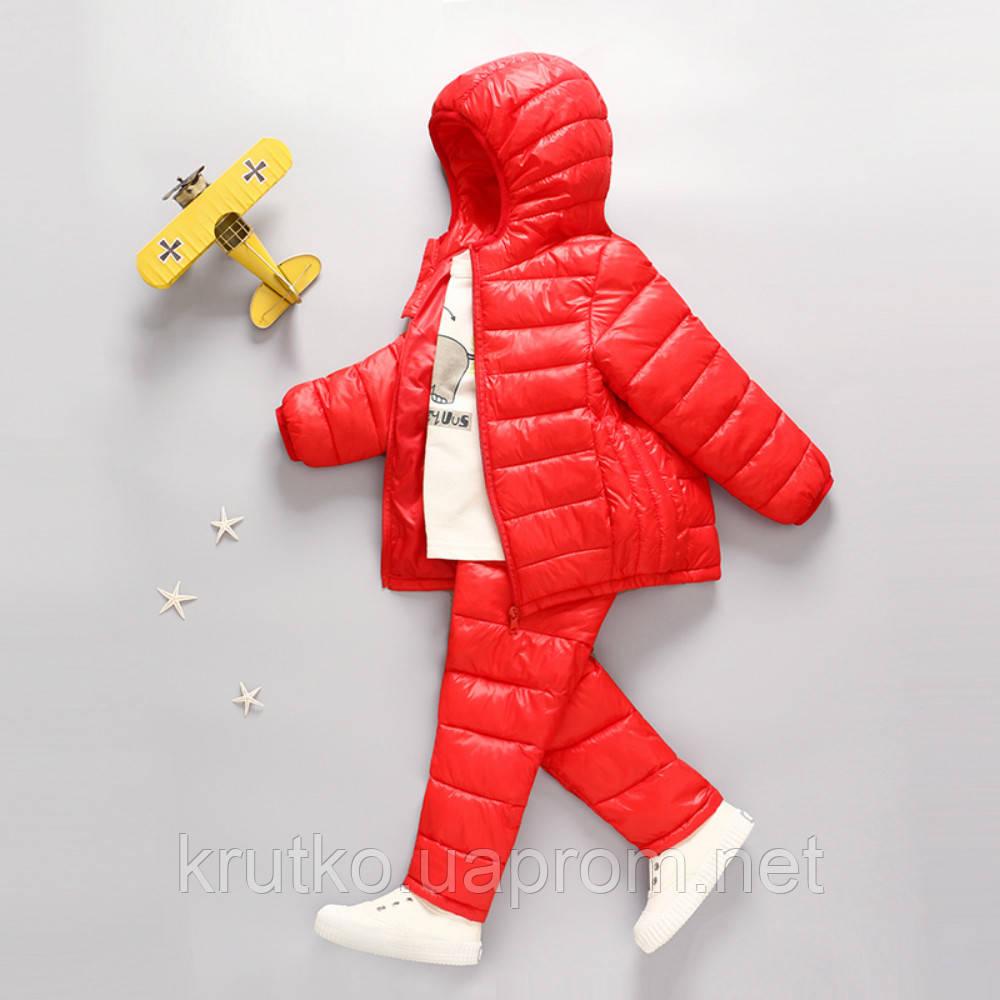 Комплект демисезонный (куртка+штаны) для девочки, красный Berni