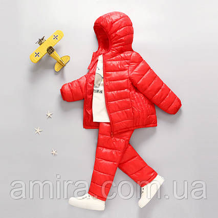 Комплект демисезонный (куртка+штаны) для девочки, красный Berni, фото 2