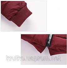 Куртка удлиненная демисезонная для девочки Лондон, бордовый Berni, фото 2