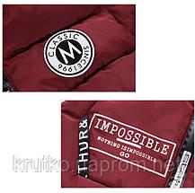 Куртка удлиненная демисезонная для девочки Лондон, бордовый Berni, фото 3