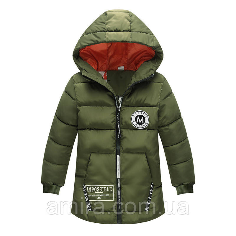 Куртка удлиненная демисезонная для девочки Лондон, темно-зеленый Berni