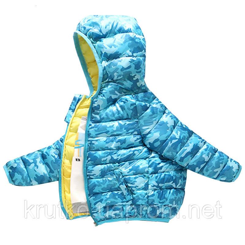 Куртка демисезонная для мальчика Камуфляж, голубой Berni