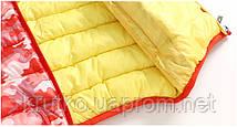 Куртка демисезонная для девочки Камуфляж, красный Berni, фото 3