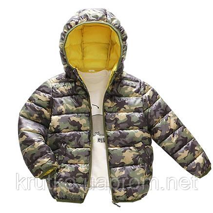 Куртка демисезонная для мальчика Камуфляж, зеленый Berni, фото 2