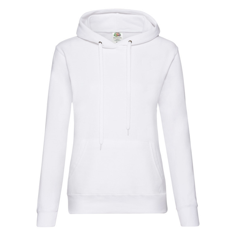 Женская толстовка Lady Fit Hooded Sweat (Цвет: Белый; Размер: 2XL)