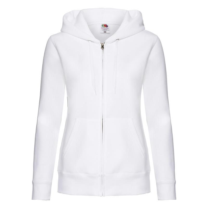Толстовка жіноча Lady Fit Hooded Sweat Jacket (Колір: Білий; Розмір: 2XL)