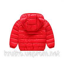 Комплект демисезонный (куртка + штаны) детский, Ушки, красный Berni, фото 3