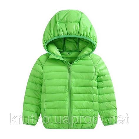 Куртка весенняя для мальчика Полоска, салатовый Berni, фото 2