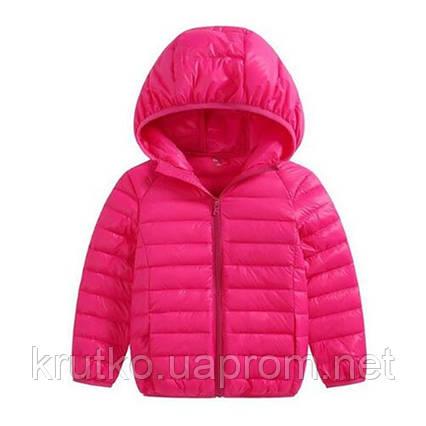 Куртка весенняя для девочки Полоска, розовый Berni, фото 2