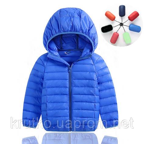 Куртка весенняя для мальчика Полоска, синий Berni, фото 2
