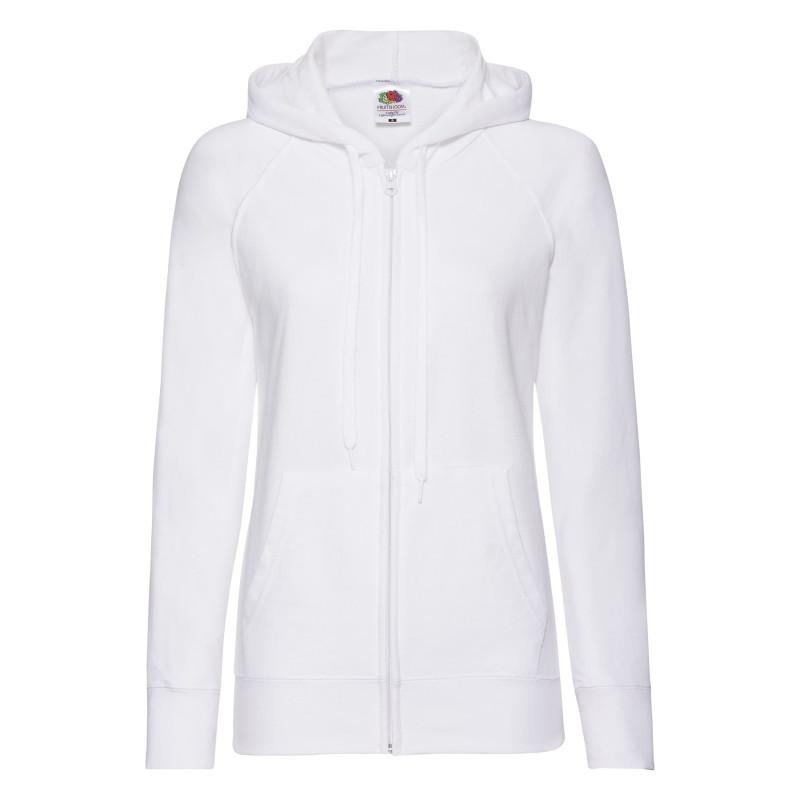 Толстовка жіноча Lady Fit Lightweight Hooded Sweat Jacket (Колір: Білий; Розмір: 2XL)