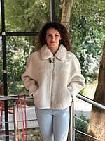 Куртка демисезонная Queens Wardrobe белый 10020-1 эко мех 44(р)