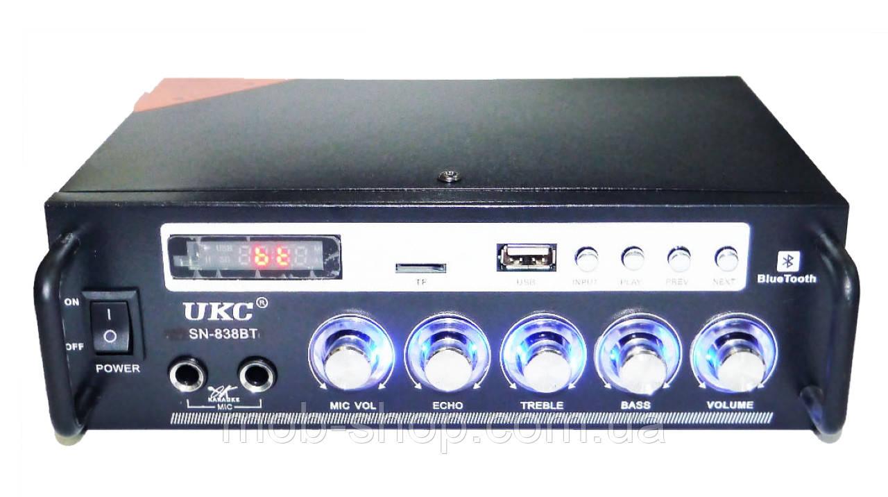 Усилитель звука UKC SN-838BT USB SD Bluetooth