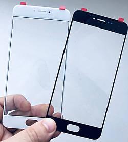 Стекло дисплея для Meizu Pro 6 черное (для переклейки)