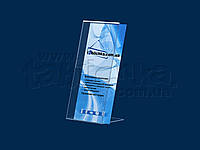 Наклонный держатель полиграфии формата 99х210мм, фото 1
