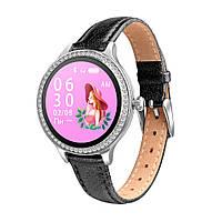 Женские смарт часы M8 тонометр давления крови калории сон спорт фитнес трекер пульсометр кожаный браслет М8