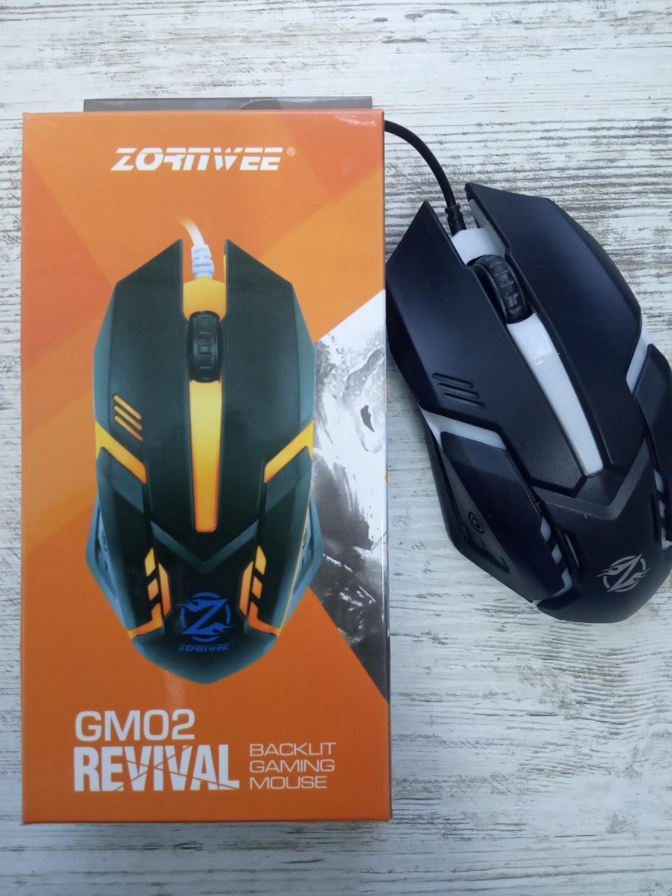 Игровая мышь, Zornwee Revival GM02, мышка с подсветкой, USB