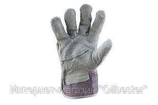 """Перчатки Mastertool - замшевые комбинированные, сшивная ладонь 10,5"""""""
